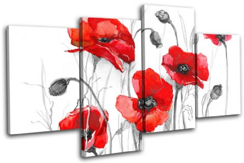Poppies Flowers Floral - 13-0781(00B)-MP04-LO